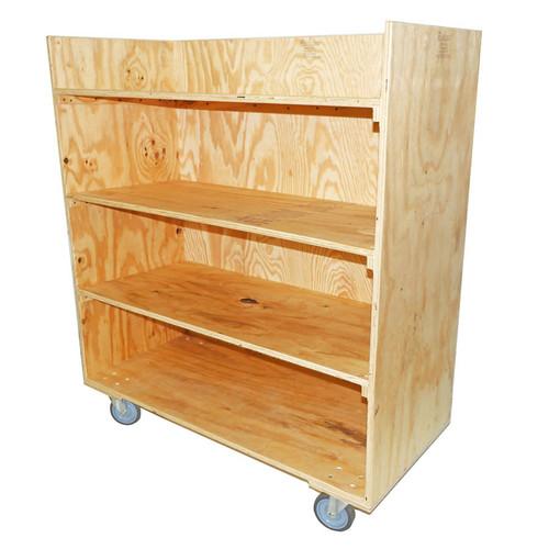 4 Shelf Straight Cart