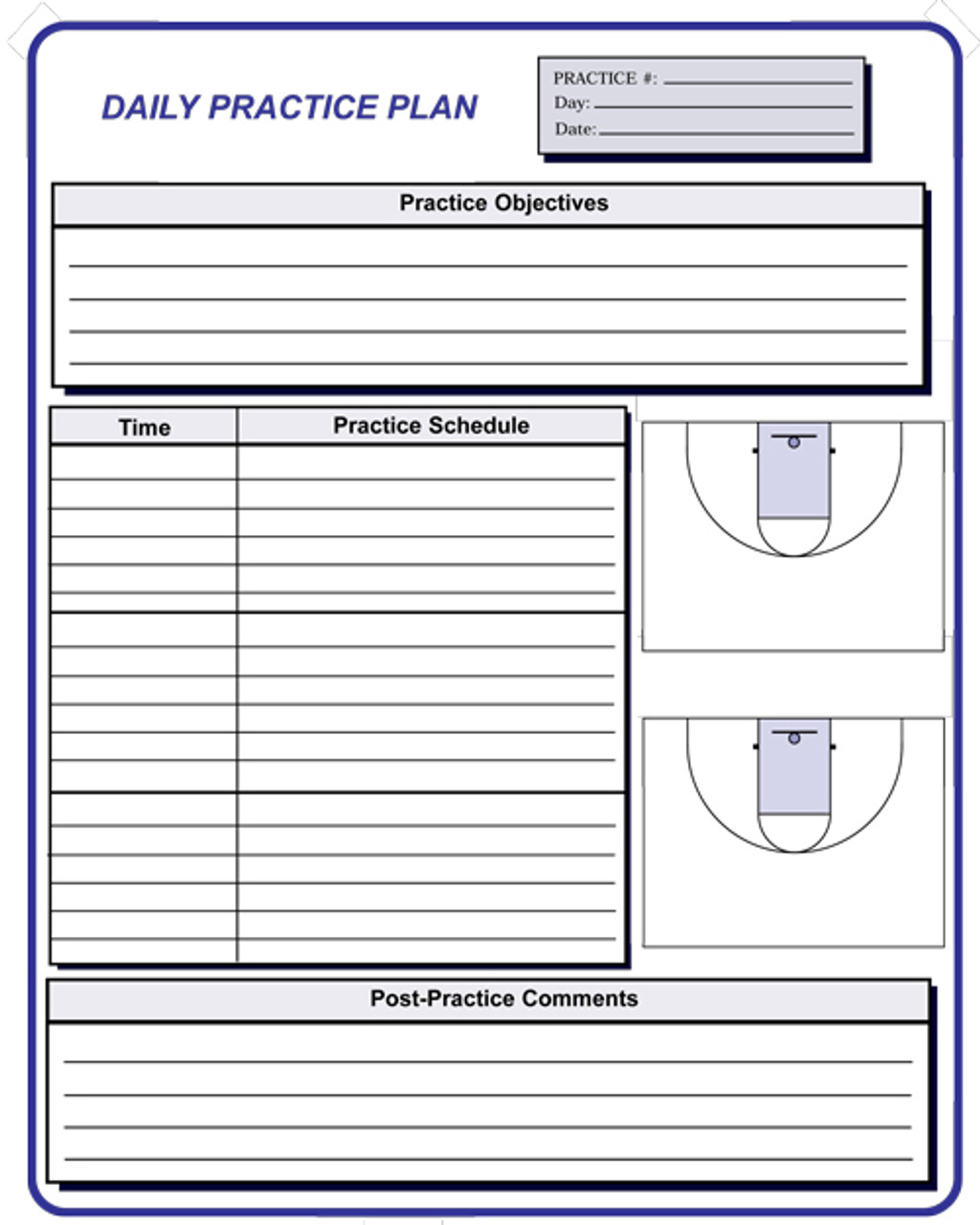 Basketball Coaching Forms