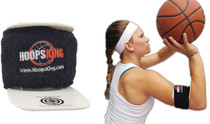 Bulls Eye Basketball Armband - up close - side view
