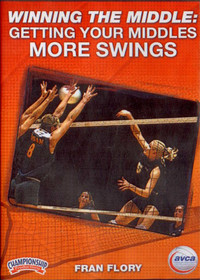 WINNING THE MIDDLE: GETTING YOUR MIDDLES MORE SWINGS by Fran Flory Instructional Volleyball Coaching Video