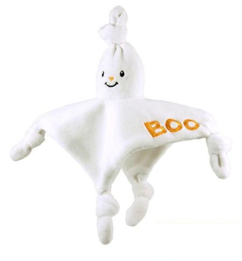 "Organic Halloween Ghost Blankie - 8"" Soft Teethers"