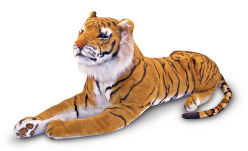 "Tiger - 46"" Laying Plush Tiger by Melissa & Doug"