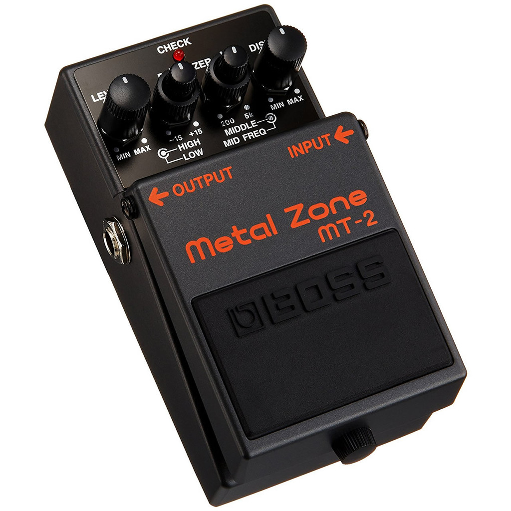Boss MT2 Metal Zone Distortion Pedal  - Top Left