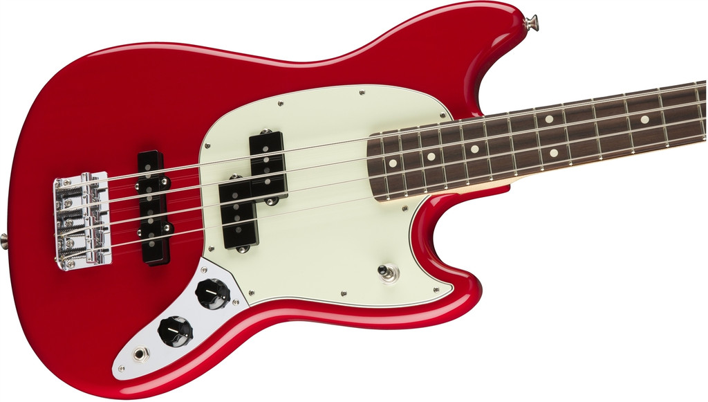 Fender Mustang Bass PJ - Torino Red- Close Up