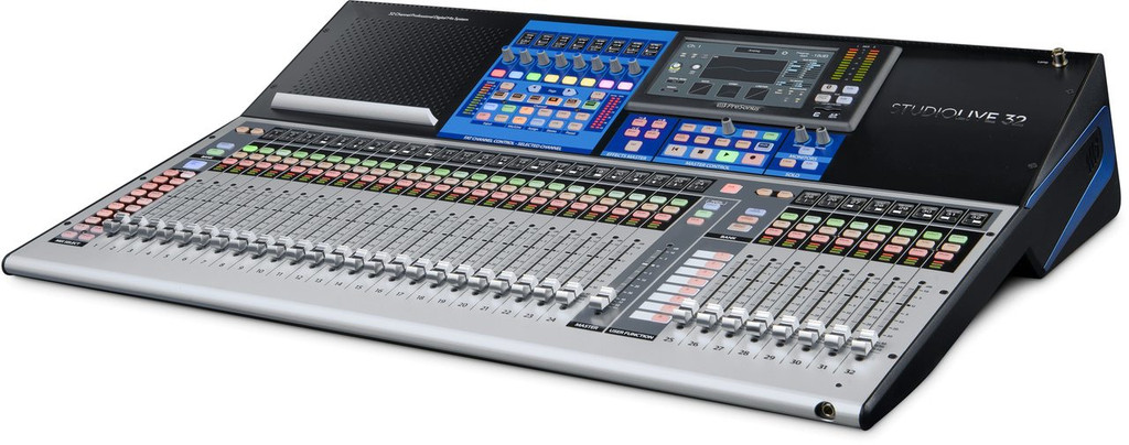 Left view of the Presonus 32 Series III Digital Mixer
