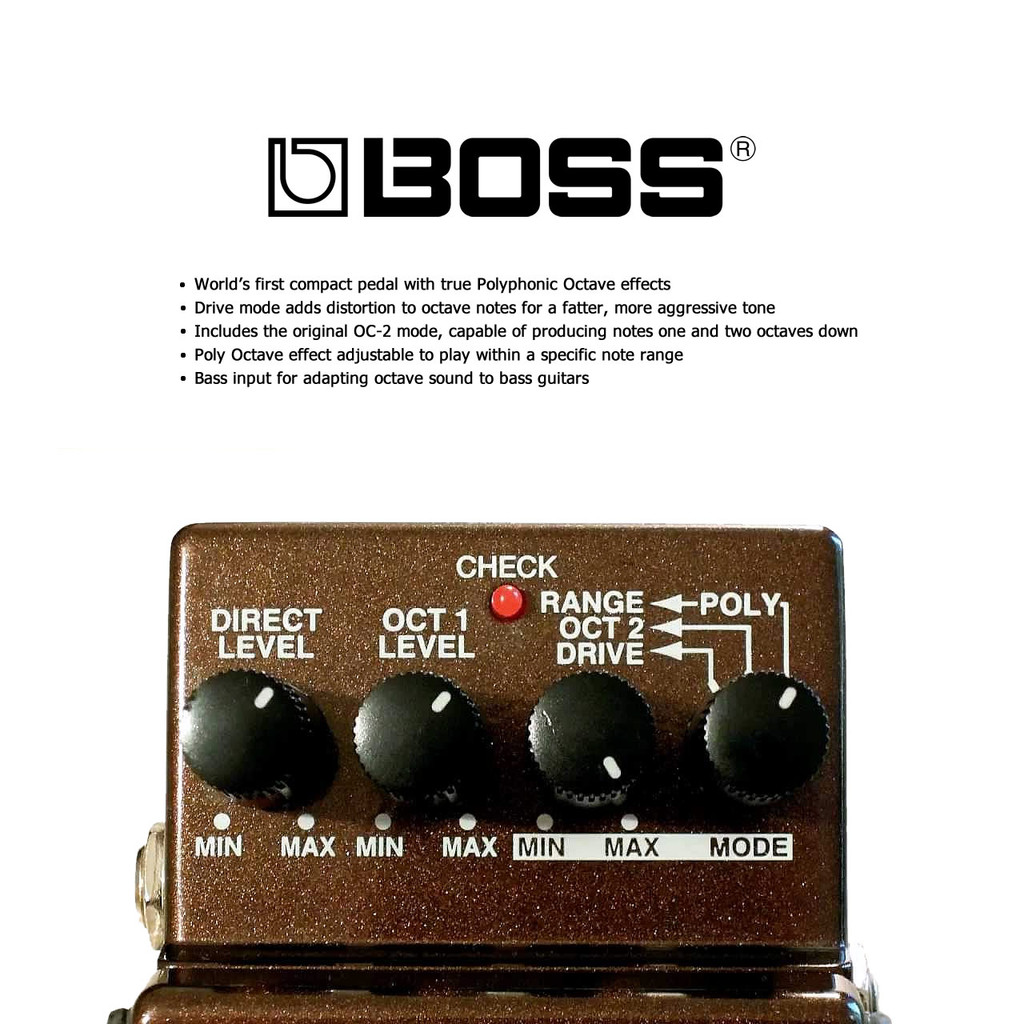 Boss OC3 OC-3 Super Octave Pedal - Features