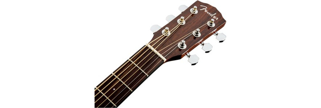 Fender CD140SCE Acoustic Electric Guitar Headstock Front Facing