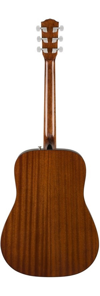 Fender CD60S Left-Handed Acoustic Guitar Rear Facing