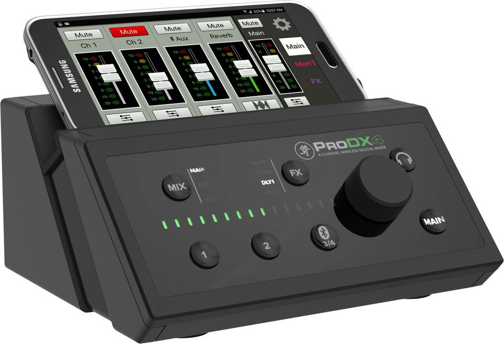 Mackie ProDX4 wireless mixer angle Big Dude's Music City - BigCommerce Control Panel