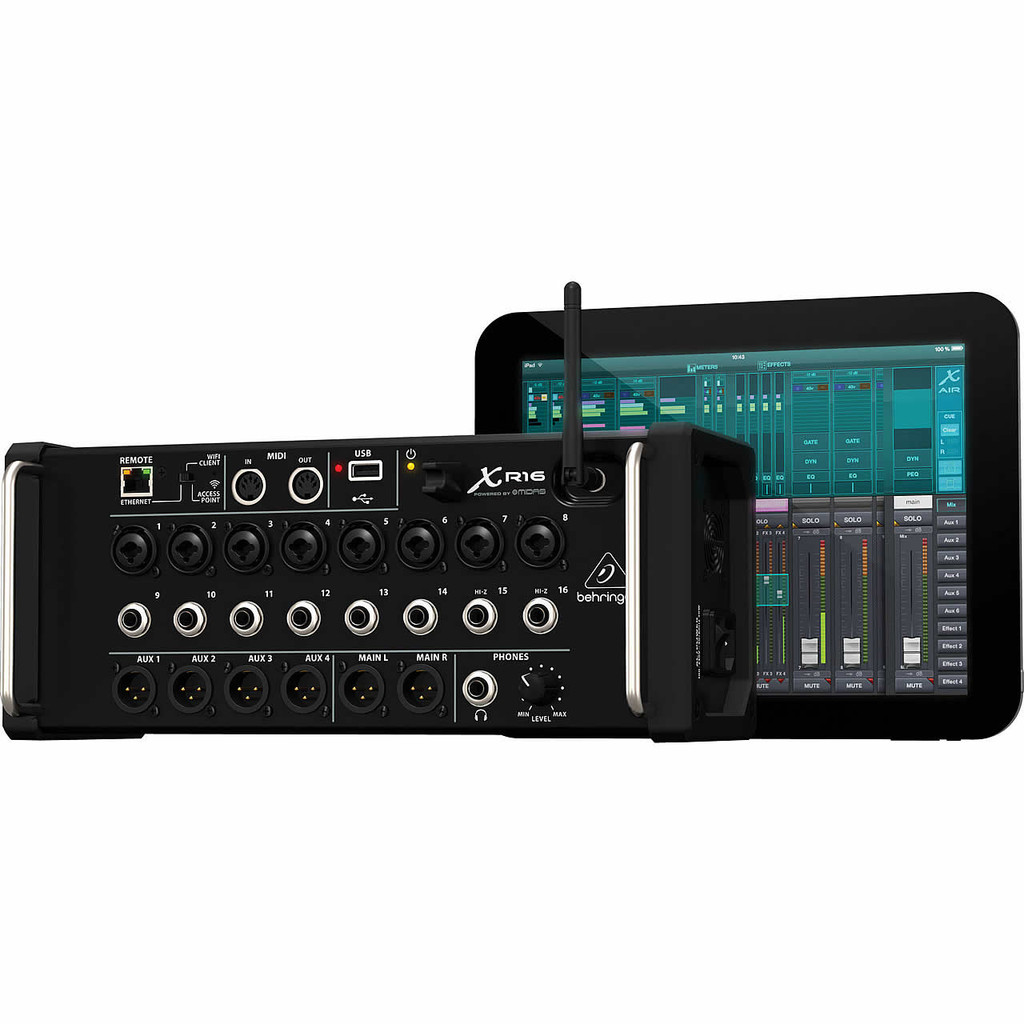 Behringer XR16 16 Input Digital Mixer for iPad/Android Tablets