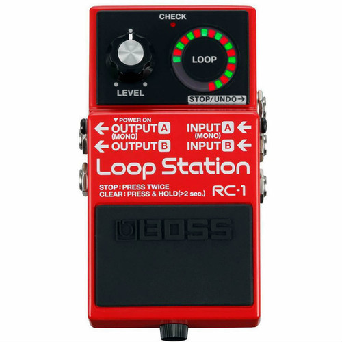 Boss RC1 Loop Station - Overhead view