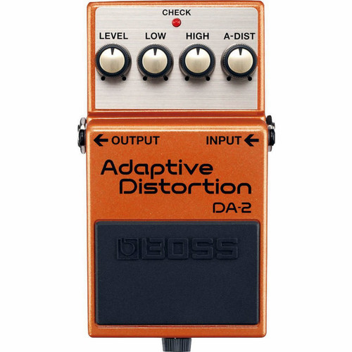 Boss Adaptive Distortion Pedal - top facing