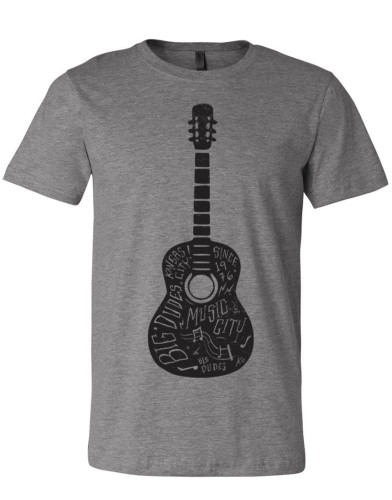 BIG DUDES 2368 Men's Acoustic T-Shirt