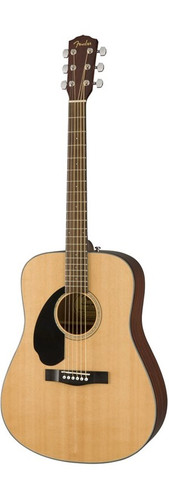 Fender CD60S Left-Handed Acoustic Guitar Front Facing
