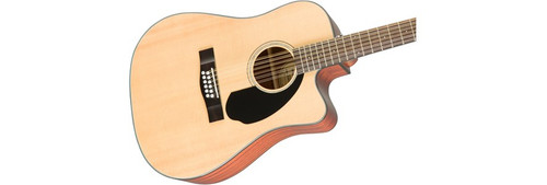 Fender CD60SCE 12-String Acoustic-Electric Guitar Offset Front Facing
