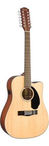 Fender CD60SCE 12-String Acoustic-Electric Guitar Front Facing