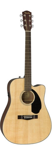 Fender CD60SCE Solid Top Acoustic Electric Guitar Front Facing