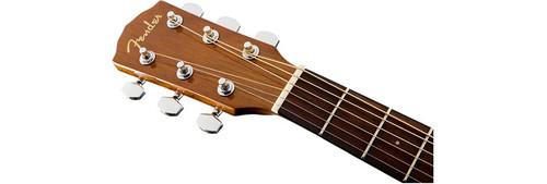 Fender CD60SCELHN Left-Handed Headstock Front Facing