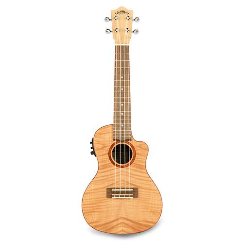 Lanikai FM-CEC Flame Maple Concert with Kula Preamp A/E Ukulele