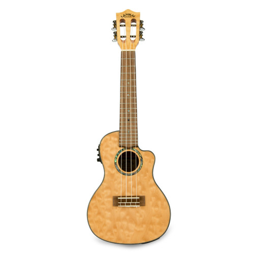 Lanikai QMNA-CEC Quilted Maple Natural Stain Concert with Kula Preamp A/E Ukulele