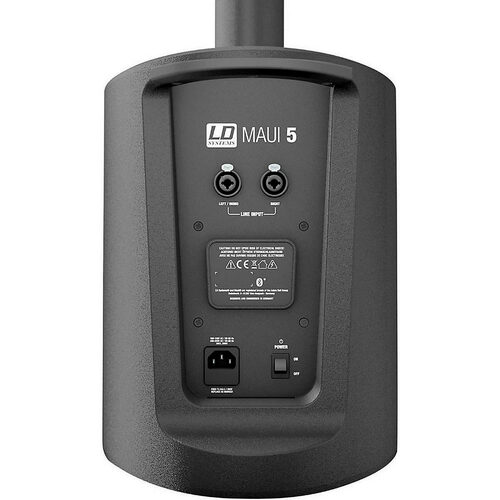 LD SYSTEMS MAUI5 Portable Column PA w/ 3 Ch Bluetooth Mixer