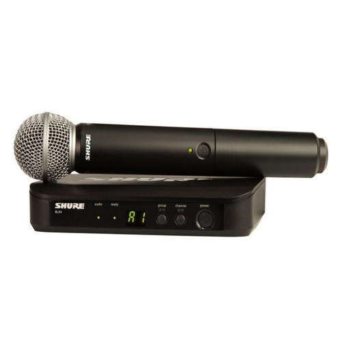 SHURE BLX24SM58 wireless microphone system at Big Dudes Music in Kansas city Missouri