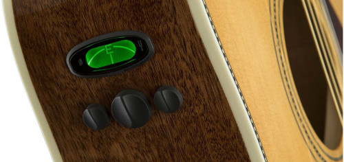 Fender PM1S PM-1 Standard Dreadnaught Electronics Closeup