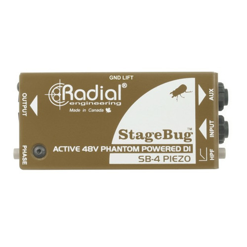 Radial SB4R DI for piezo pickups, low-cut filter, 48V phantom