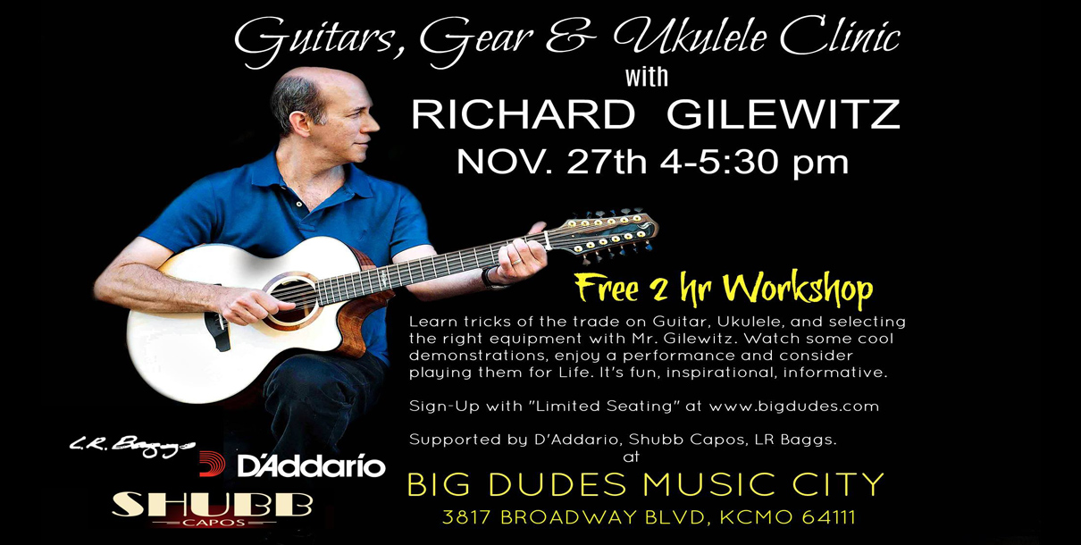 Richard Gilewitz Clinic at Big Dudes Music City in KCMO