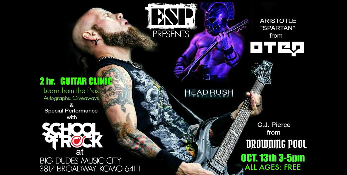 ESP & Headrush Guitar Clinic with the School of Rock