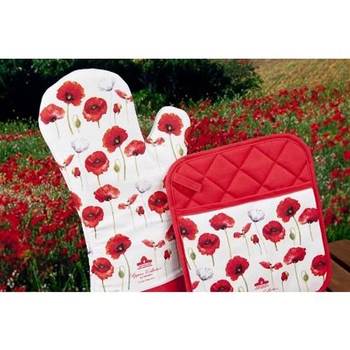 Ashdene Poppies Oven Glove Mitt (Pot Holder sold separately)