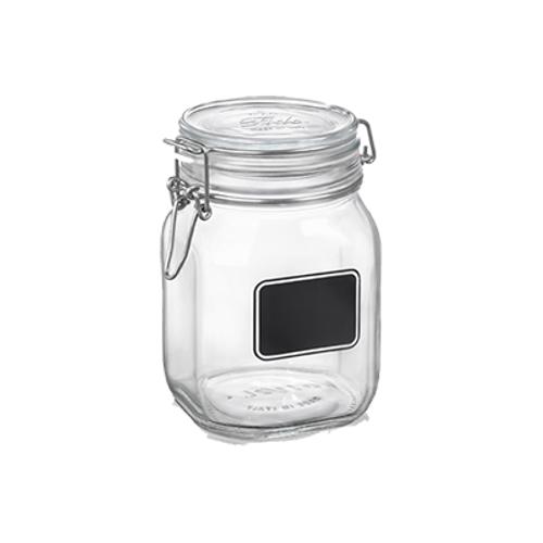 Fido Square Chalk Label Jar - 33.75 oz