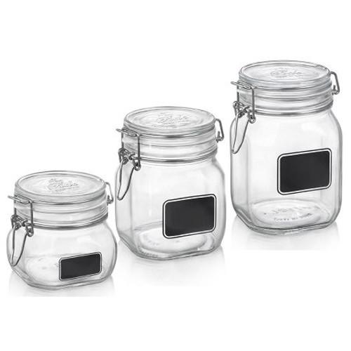 Fido Square Chalk Label Jars