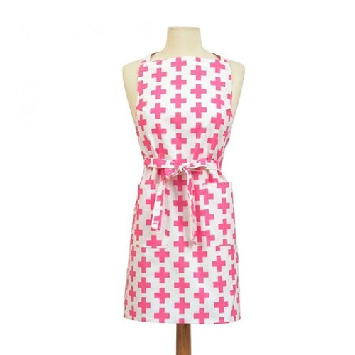 ASD Apron - Pink Crosses Design