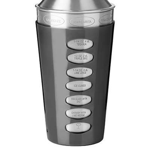 Trudeau Stainless Steel Recipe Cocktail Shaker