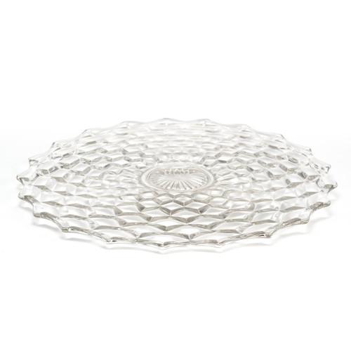 "Mosser Glass Katherine Plate - 19"" - Crystal (MG 601PLC)"