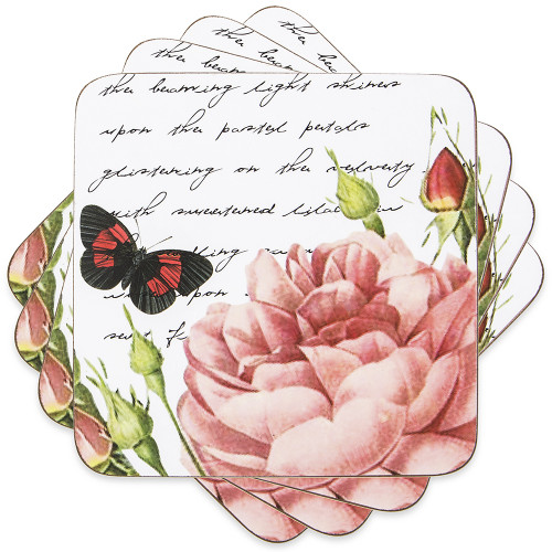 Dine by Ladelle Postcard Collection - Set of 4 Coasters (LD 49187)