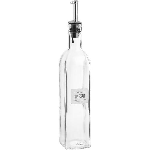 Trudeau Mason Vinegar Bottle with Metal Plate - .5 L (TR 0538026)