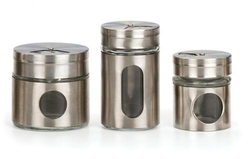 RSVP Endurance 3.5oz Glass Spice Shaker - Fat (RSVP GSS-35)
