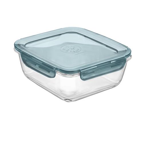 Bormioli Rocco Evolution Square - Slate Blue Lid 1.4 L (47.25 oz) (BR 389112MH2321990)
