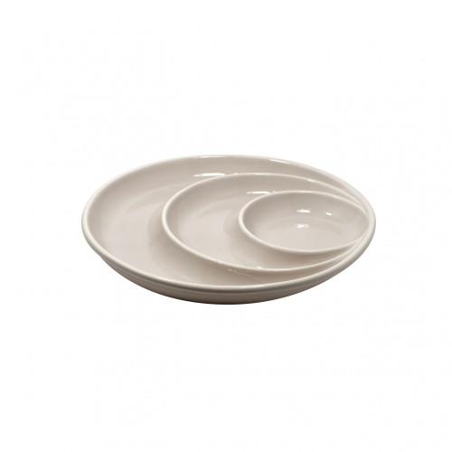Casafina Round Chip-N-Dip Dish - Grey (CF 5324-GRY)