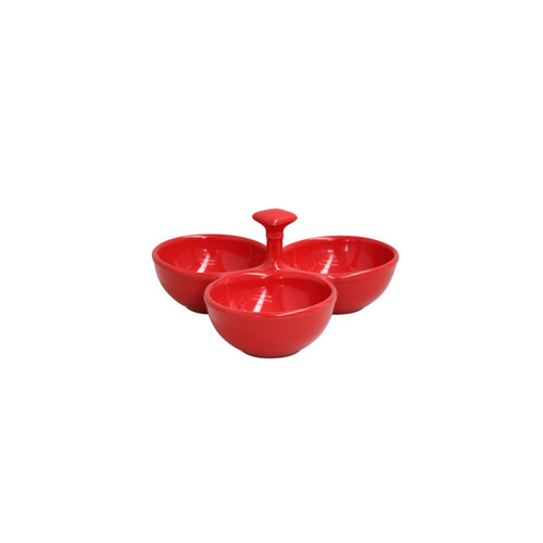 Casafina Cook and Host 3-Section Server - Red