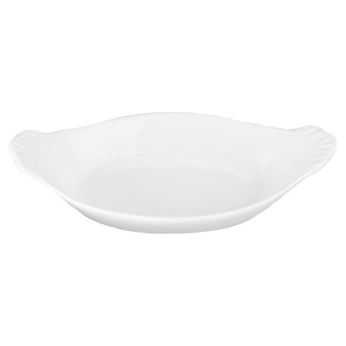 B.I.A Oval Au Gratin Baker - White - 10 oz. (BIA 900048)