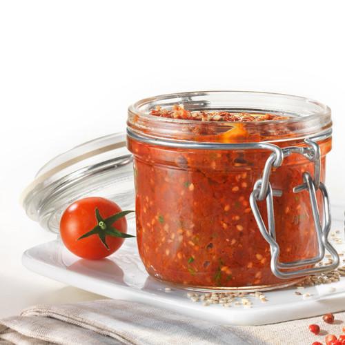 Fido Jar - .20 L (6.75 oz) - Round with Clear Lid (BR 141360MRG121990)