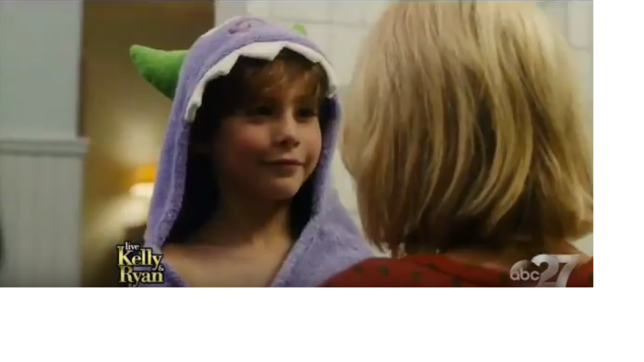 See our Purple monster towel in the movie The Book of Henry!