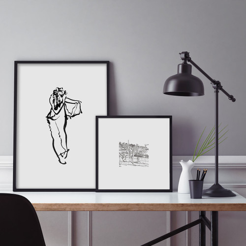 'Trousers' and 'Vineyard' Ink-Drawn Art Prints from The Printed Home