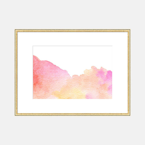 'Rolling Clouds' Watercolor Art Print