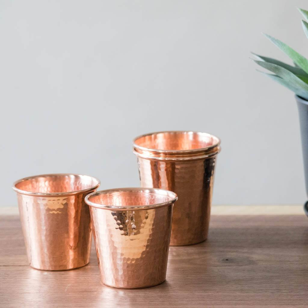 Hammered Copper Apa Cups by Sertodo Copper (12 ounce)