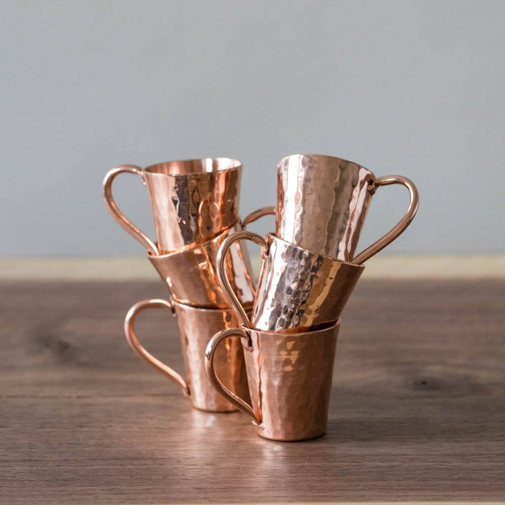 Hammered Copper Gunslinger Mini Moscow Mule Mugs by Sertodo Copper (2 ounce)
