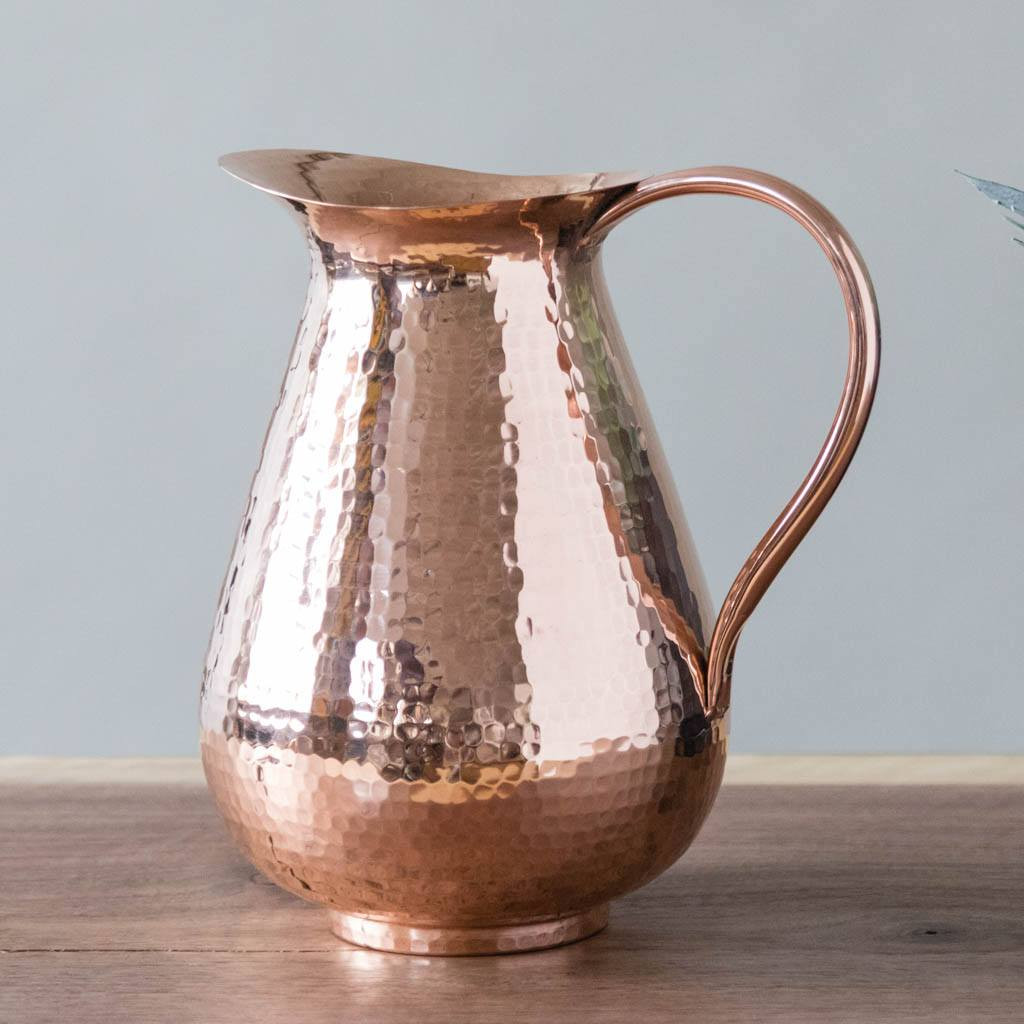 Pure Copper Water Pitcher by Sertodo Copper (76 Ounce Bisotun Pitcher with Copper Handle)